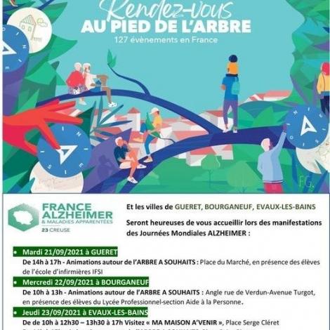 Des manifestations en Creuse demain pour la Journée mondiale d'Alzheimer...